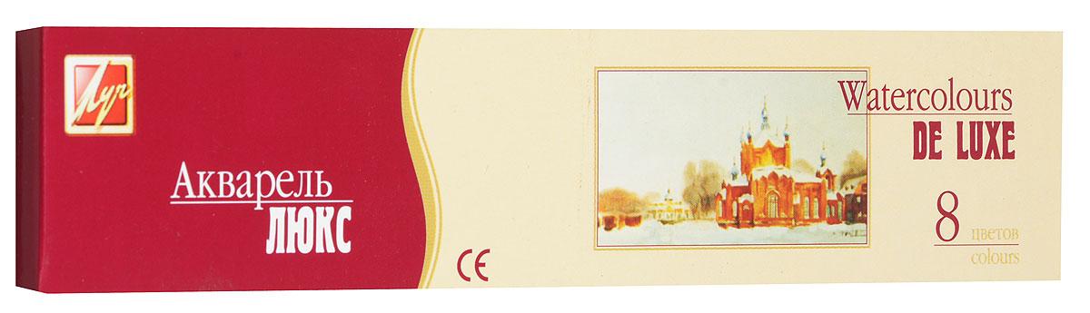 Луч Акварель медовая De Luxe 8 цветов14С 1017-08Медовые акварельные краски De Luxe идеально подойдут для детского художественного творчества, изобразительных и оформительских работ. Акварельные краски серии Люкс изготовлены с использованием высококачественного растительного клея-гуммиарабика и пигментов высокого класса. Это обуславливает улучшенные свойства по сравнению с обычными акварельными красками. Краски легко размываются, создавая прозрачный цветной слой, легко смешиваются между собой, не крошатся и не смазываются, быстро сохнут. Акварель имеет отличные художественные свойства, качественную передачу цвета, хорошую растворимость. Акварельные краски безопасны для детей, не токсичны. В набор входят краски 8 ярких насыщенных цветов. В процессе рисования у детей развивается наглядно-образное мышление, воображение, мелкая моторика рук, творческие и художественные способности, вырабатывается усидчивость и аккуратность.