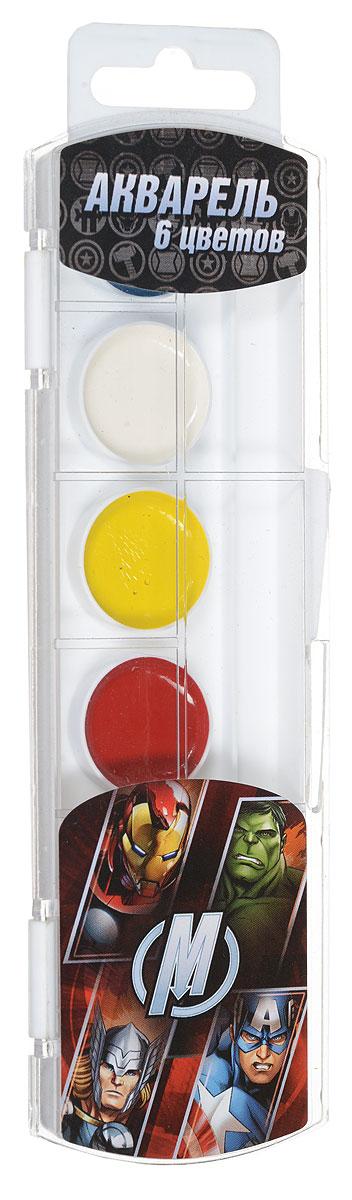 Marvel Акварель Мстители 6 цветов25441Акварель Marvel Мстители включает в себя шесть насыщенных цветов. Удобный пластиковый пенал четко фиксирует краску в специальных нишах, также в нем находится специальное отделение для хранения кисточки. Акварельные краски идеально подойдут для детского художественного творчества, изобразительных и оформительских работ. Краски легко размываются, создавая прозрачный цветной слой, легко смешиваются между собой, не крошатся и не смазываются, быстро сохнут. В процессе рисования у детей развиваются наглядно-образное мышление, воображение, мелкая моторика рук, творческие и художественные способности, вырабатываются усидчивость и аккуратность.