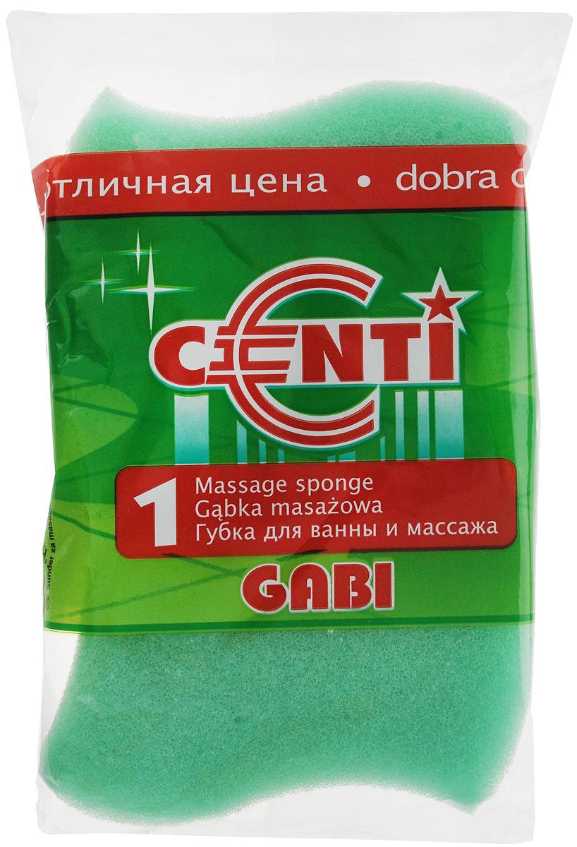 Губка для тела Centi Gabi, массажная, цвет: зеленый, белый, 13,5 х 9,5 х 4,5 см1111_зеленыйГубка для тела Centi Gabi изготовлена из мягкого экологически чистого полимера. Пористая структура губки создает воздушную пену даже при небольшом количестве геля для душа. Эффективно очищает и массирует кожу, улучшая кровообращение и повышая тонус.