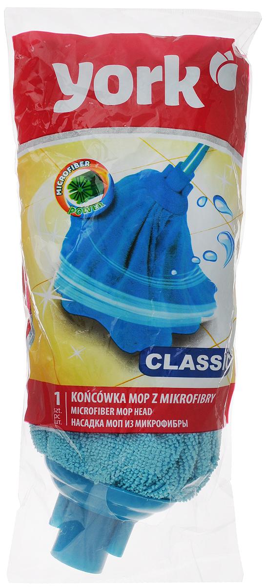 Насадка для швабры York Классик, сменная, цвет: голубой7706_голубойСменная насадка для швабры York Классик изготовлена из микрофибры и пластика. Микрофибра обладает высокой износостойкостью, не царапает поверхности и отлично впитывает влагу. Насадка отлично удаляет большинство жирных и маслянистых загрязнений без использования химических веществ. Насадка идеально подходит для мытья всех типов напольных покрытий. Она не оставляет разводов и ворсинок. Сменная насадка для швабры York Классик станет незаменимой в хозяйстве. Длина насадки: 27 см.