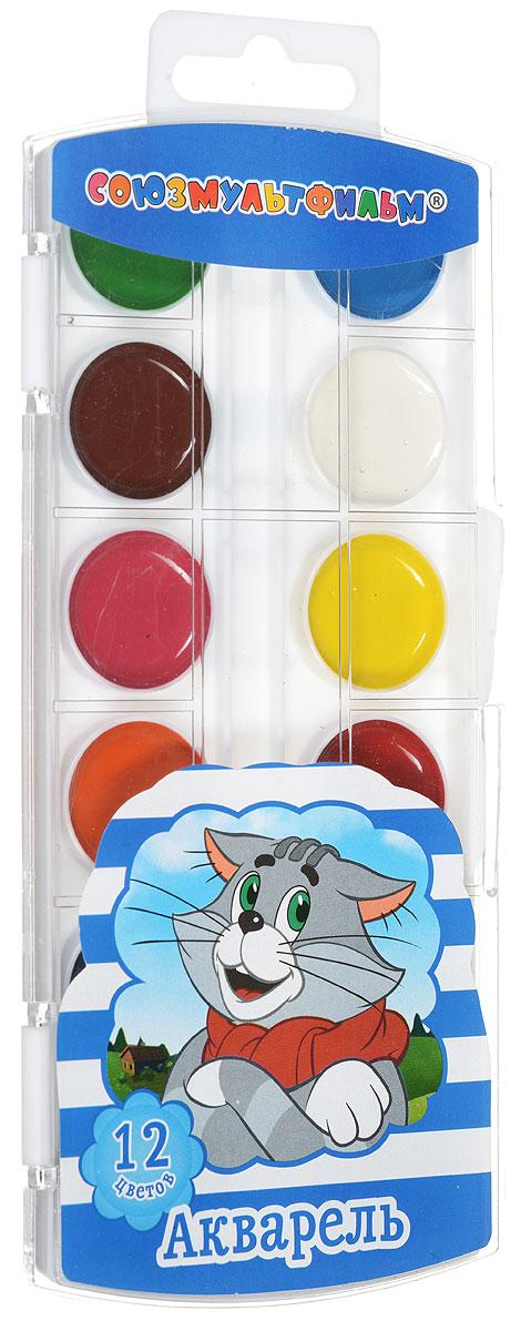 Союзмультфильм Акварель Простоквашино 12 цветов22419Рисование доставляет детям несравненный восторг, а кроме этого развивает цветовое восприятие, зрительную память, воображение, совершенствует ассоциативное и творческое мышление. Занимаясь изобразительным творчеством, малыш тренирует мелкую моторику рук, становится более усидчивым и спокойным и, конечно, приобщается к общечеловеческой культуре. Одним словом, переоценить пользу рисования просто невозможно. А какое же творчество без красок? Акварельные краски Союзмультфильм Простоквашино имеют яркие насыщенные цвета, легко размываются и разносятся, быстро сохнут. В наборе 12 цветов.
