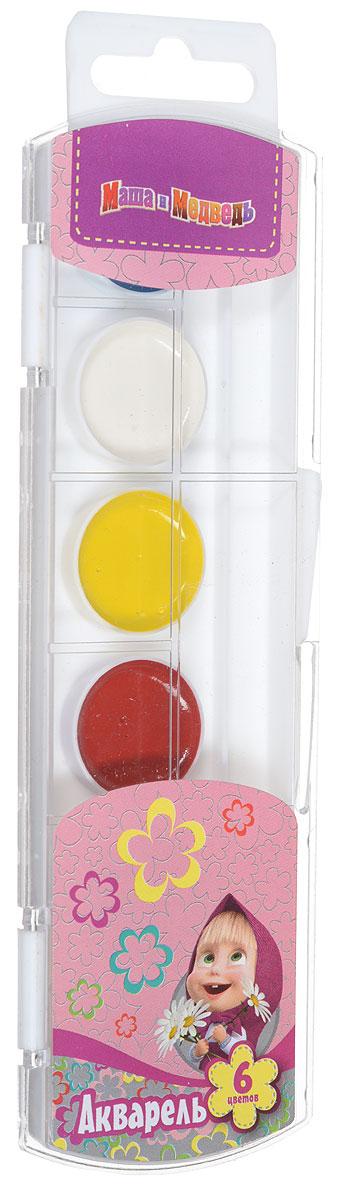 Маша и Медведь Акварель 6 цветов25201Акварель Маша и Медведь включает в себя шесть насыщенных цветов. Удобный пластиковый пенал четко фиксирует краску в специальных нишах, также в нем находится специальное отделение для хранения кисточки. Акварельные краски идеально подойдут для детского художественного творчества, изобразительных и оформительских работ. Краски легко размываются, создавая прозрачный цветной слой, легко смешиваются между собой, не крошатся и не смазываются, быстро сохнут. В процессе рисования у детей развиваются наглядно-образное мышление, воображение, мелкая моторика рук, творческие и художественные способности, вырабатываются усидчивость и аккуратность.