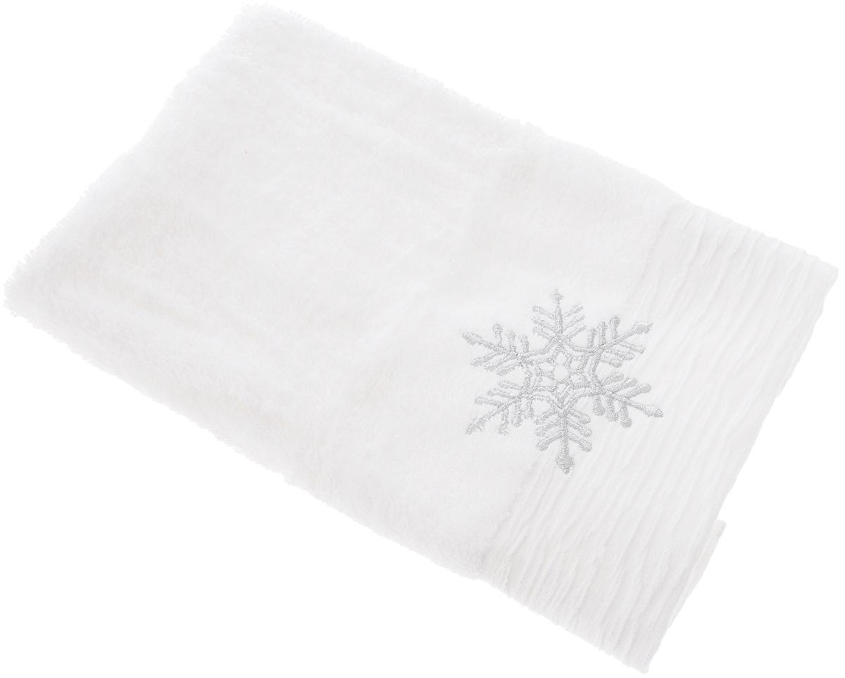 Полотенце подарочное Coronet Снежинка, цвет: белый, 45 х 30 смК-МП-4212-11-01_белый, снежинка
