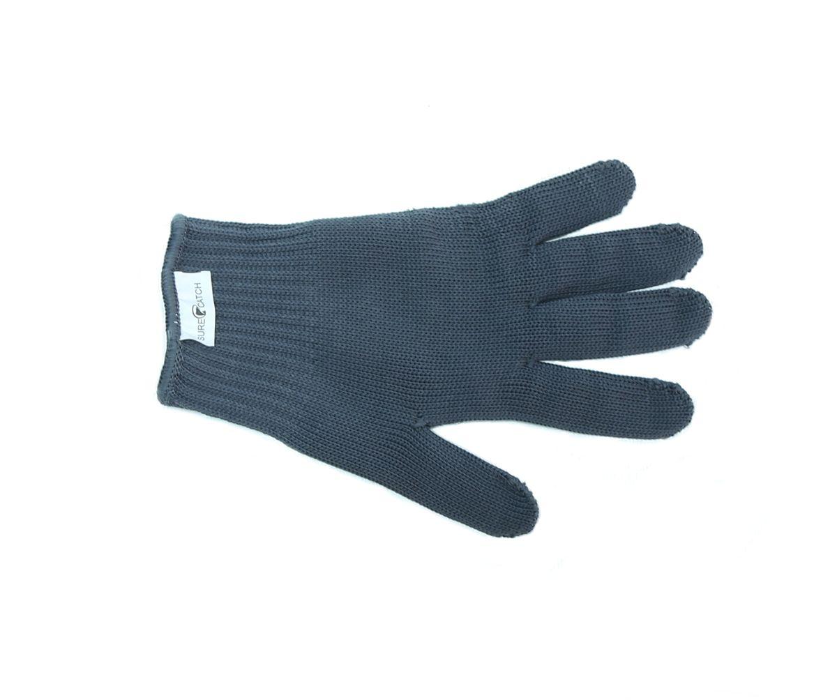 Перчатка для разделки рыбы Sure Catch. Размер М (9-10)578-Glove-4-MСочетание синтетических и металлических нитей, позволяет надёжно удерживать рыбу при разделке и предохранить руки от порезов жабрами,плавниками, а также острым филейным ножом. При этом перчатки достаточно тонкие мягкие и не сковывают движений.