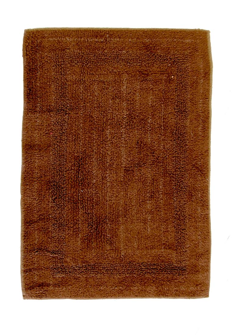 Коврик для ванной Arloni, двухсторонний, цвет: темно-коричневый, 50 x 75 см80-0020-0000Двухсторонний коврик для ванной Arloni выполнен из 100% хлопка. Коврик долго прослужит в вашем доме, добавляя тепло и уют, а также внесет неповторимый колорит в интерьер ванной комнаты.