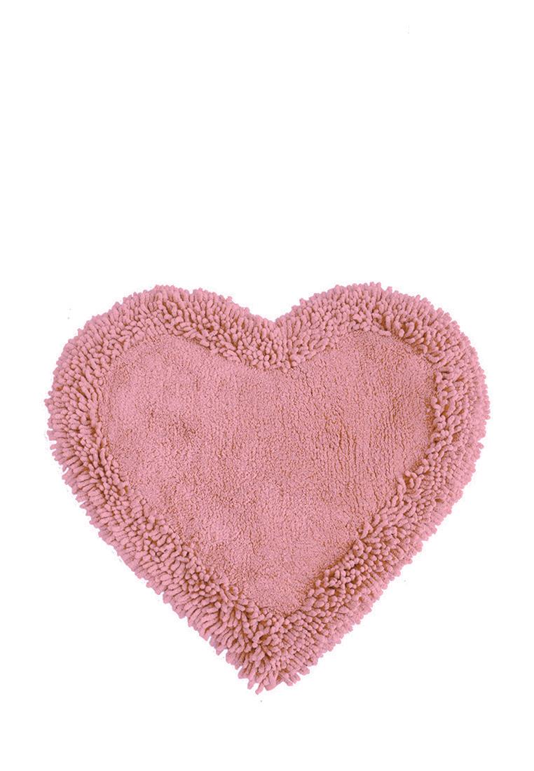 Коврик для ванной Arloni, цвет: розовый, 50x75 см80-0040-0001Коврик, 100% хлопок, сердце, розовый