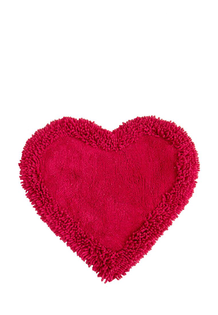 Коврик для ванной Arloni, цвет: красный, 50x75 см80-0040-0002Коврик, 100% хлопок, сердце, красный