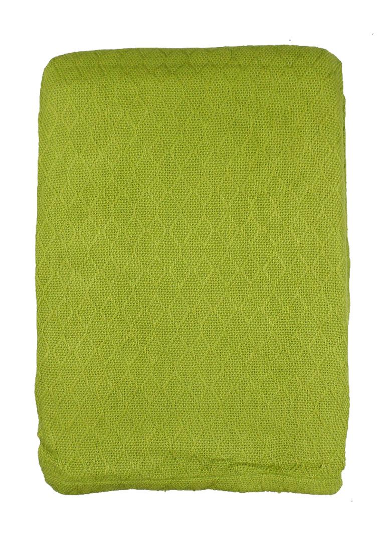 Покрывало Arloni, цвет: зеленый, 225 х 250 см. 82-101582-1015Покрывало Зелёное,50% бамбук/ 50% хл., 225х250