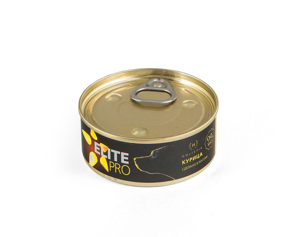Консервы для собак Titbit Elite Pro, с курицей, 100 г6627