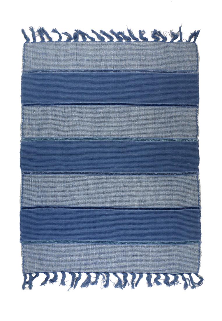 Коврик прикроватный Arloni, самотканный, цвет: синий, 60х90 см704/5Коврик напольный х/б 60*90см