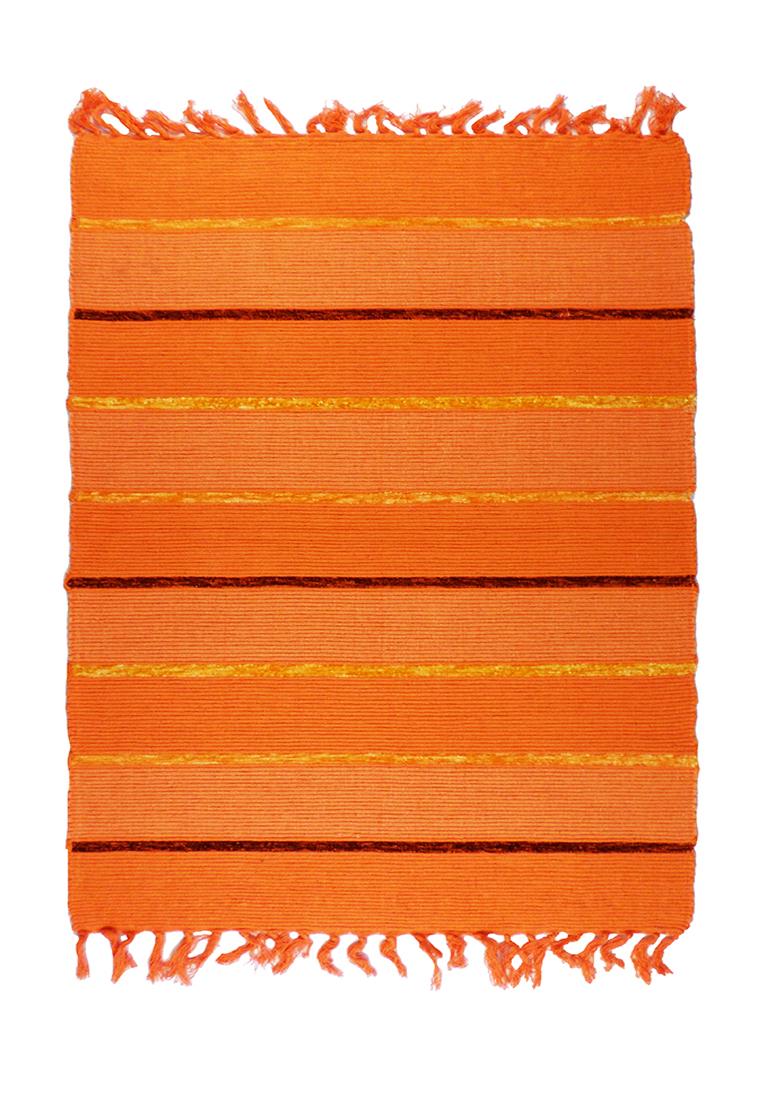 Коврик прикроватный Arloni, самотканный, цвет: оранжевый, 60х90 см704/19Коврик напольный х/б 60*90см