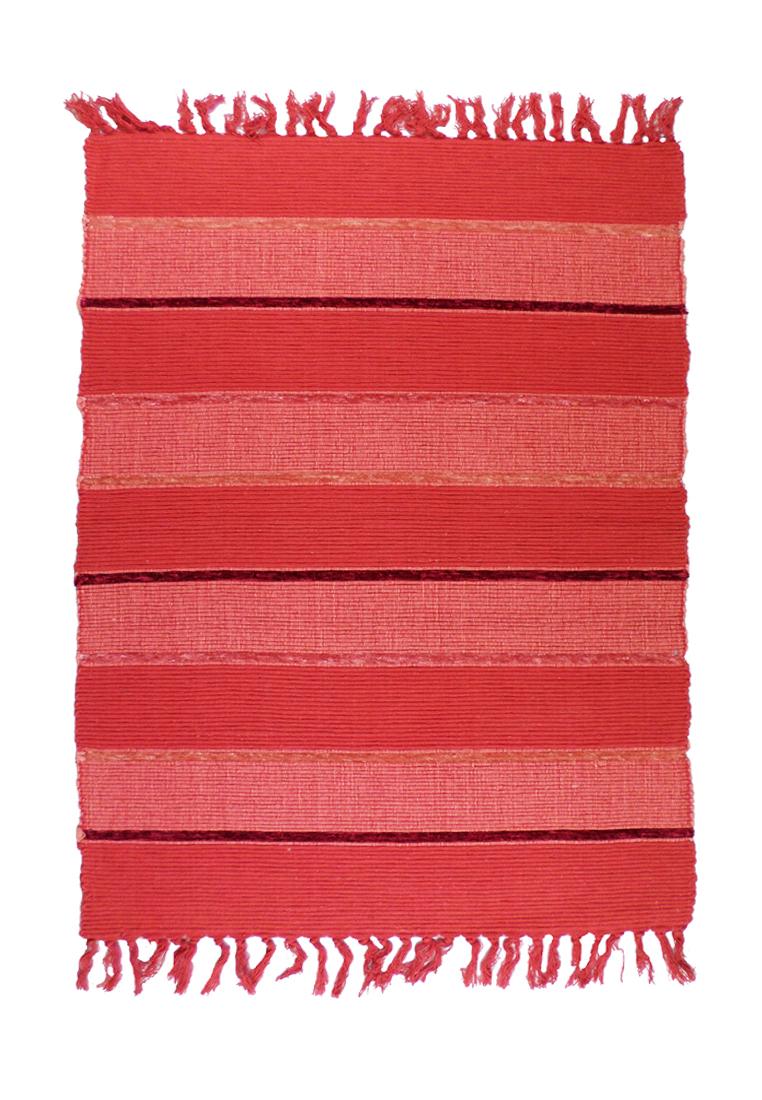 Коврик прикроватный Arloni, самотканный, цвет: красный, 60х90 см704/14Коврик напольный х/б 60*90см
