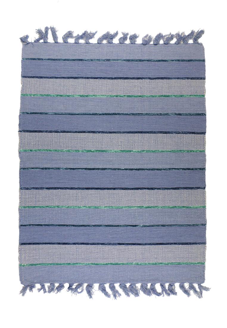 Коврик прикроватный Arloni, самотканный, цвет: серо-синий, 60х90 см703/9Коврик напольный х/б 60*90см