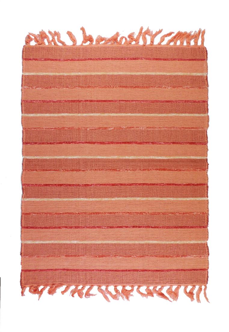 Коврик прикроватный Arloni, самотканный, цвет: терракотовый, 60х90 см703/18Коврик напольный х/б 60*90см