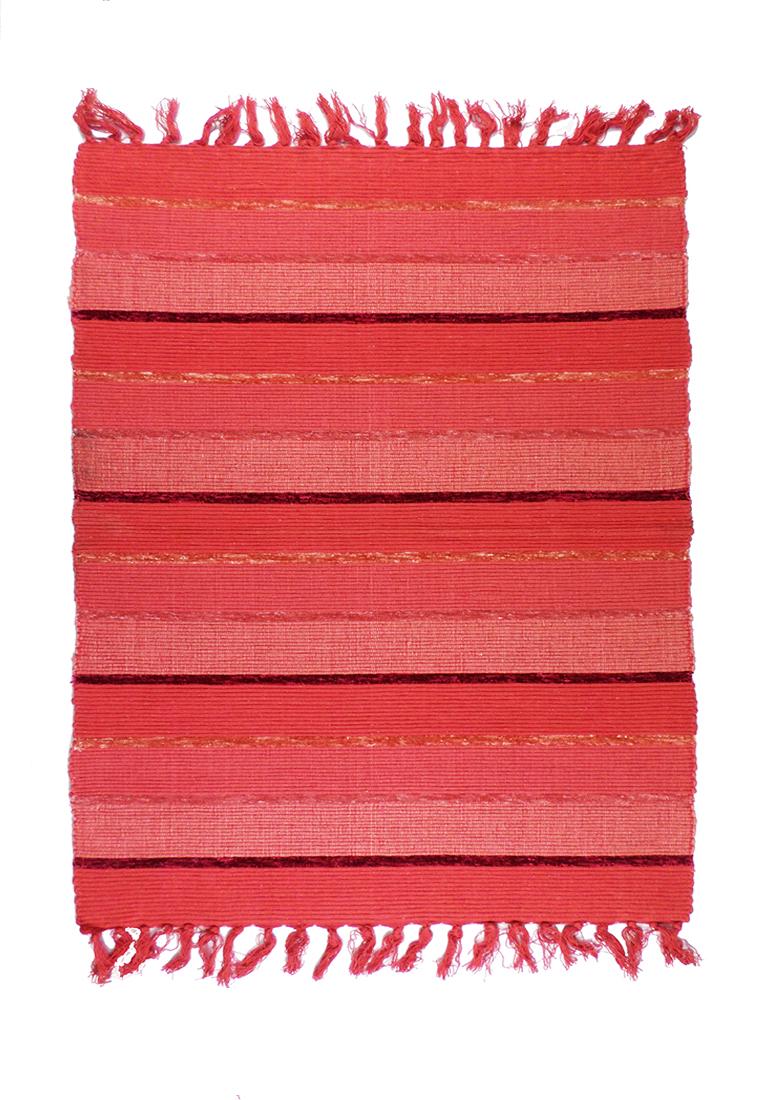 Коврик прикроватный Arloni, самотканный, цвет: красный, 60х90 см. 703/14703/14Коврик напольный х/б 60*90см
