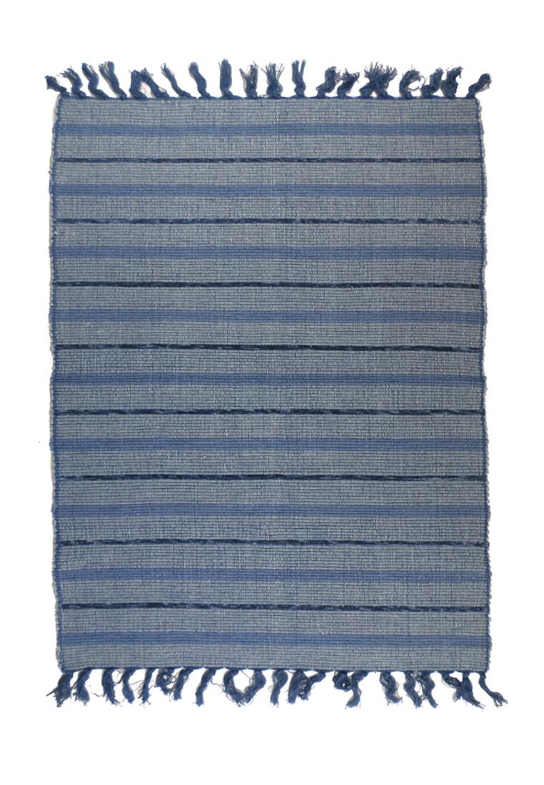 Коврик прикроватный Arloni, самотканый, цвет: синий, 60 x 90 см. 702/2702/2Прикроватный коврик Arloni выполнен из 100% хлопка и декорирован принтом в полоску. Коврик долго прослужит в вашем доме, добавляя тепло и уют, а также внесет неповторимый колорит в интерьер любой комнаты.