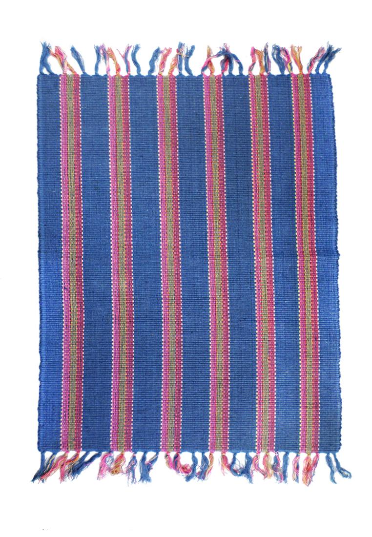 Коврик прикроватный Arloni, цвет: синий, 60х90 см250/221/2Коврик напольный х/б 60*90см