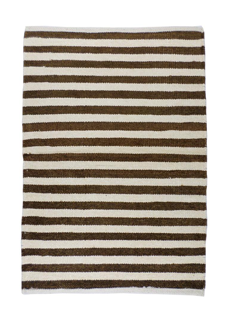 Коврик для ванной Arloni, самотканный, цвет: бежево-коричневый, 50х80 см. 50/80/150/80/1Коврик самоткан х/б 50*80