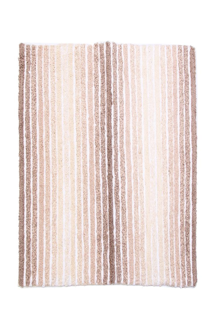 Коврик для ванной Arloni, самотканый, цвет: коричневый, 50 х 80 см50/80/122Самотканый коврик для ванной Arloni, выполненный из 100% хлопка, декорирован принтом в полоску. Коврик долго прослужит в вашем доме, добавляя тепло и уют, а также внесет неповторимый колорит в интерьер ванной комнаты.
