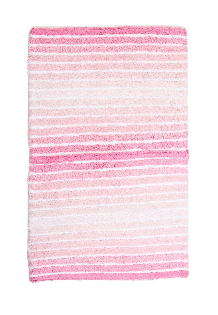 Коврик для ванной Arloni, самотканый, цвет: розовый, 50 х 80 см50/80/119Самотканый коврик для ванной Arloni, выполненный из 100% хлопка, декорирован принтом в полоску. Коврик долго прослужит в вашем доме, добавляя тепло и уют, а также внесет неповторимый колорит в интерьер ванной комнаты.
