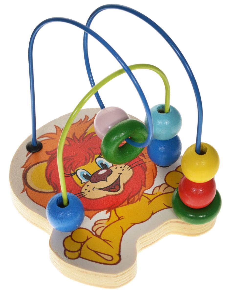 Союзмультфильм Лабиринт Львенок1109173Лабиринт Союзмультфильм Львенок - это замечательная игрушка для малышей! Игрушка выполнена из качественных материалов, абсолютно безопасна для вашего малыша. Краска устойчива к воздействию влаги и нетоксична, рисунок на изделии долгое время будет сохранять яркость. Натуральное дерево, из которого изготовлена игрушка, прошло специальную обработку, в результате чего на модели не осталось острых углов или шероховатых поверхностей, которые могут повредить кожу ребенка. К игрушке прикреплена изогнутая проволока, по которой свободно могут двигаться бусинки, различные по цвету и форме. Лабиринт способствует развитию моторики, тренирует мышцы кисти, отрабатывает круговые движения, стимулирует визуальное восприятие, когнитивное мышление, развивает интеллектуальные способности.