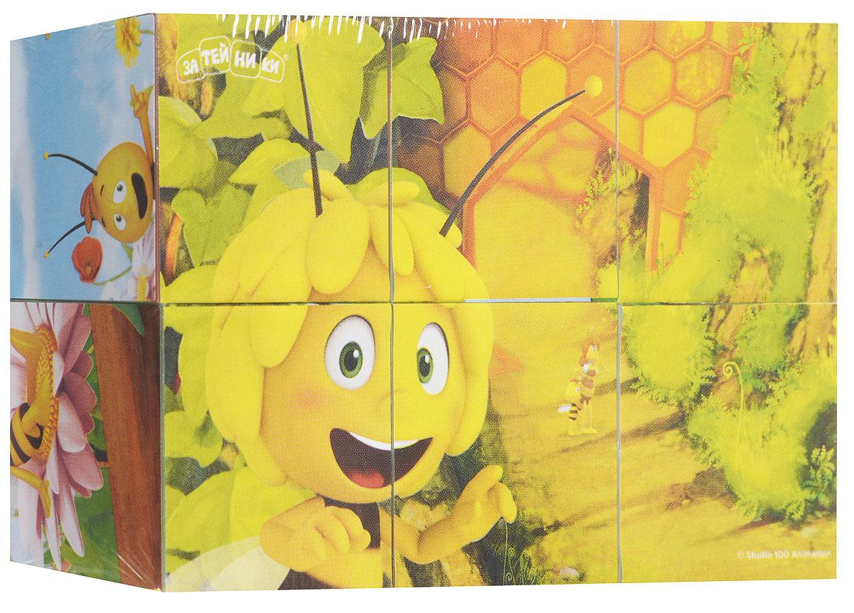 Пчелка Майя Кубики Майя и ее друзья1136146С помощью кубиков Пчелка Майя ребенок сможет составить шесть разных картинок, благодаря которым узнает любимых персонажей мультфильма. Игра с кубиками развивает зрительное восприятие, наблюдательность, мелкую моторику рук и произвольные движения. Ребенок научится складывать целостный образ из частей, определять недостающие детали изображения. Это прекрасный комплект для развлечения и времяпрепровождения с пользой для малыша. В комплект входят 6 кубиков.