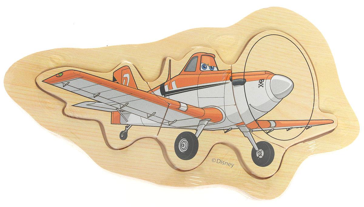 Disney Пазл для малышей Самолеты Дасти1120538Пазл для малышей Disney Самолеты. Дасти - это деревянная основа, в которой вырезано углубление. В нем собираются элементы пазла. Собрав этот пазл, включающий в себя 4 элемента, вы получите изображение Дасти из всем известного мультфильма. Собирание пазла развивает у ребенка мелкую моторику рук, тренирует наблюдательность, логическое мышление, знакомит с окружающим миром, с цветом и разнообразными формами, учит усидчивости и терпению, аккуратности и вниманию.