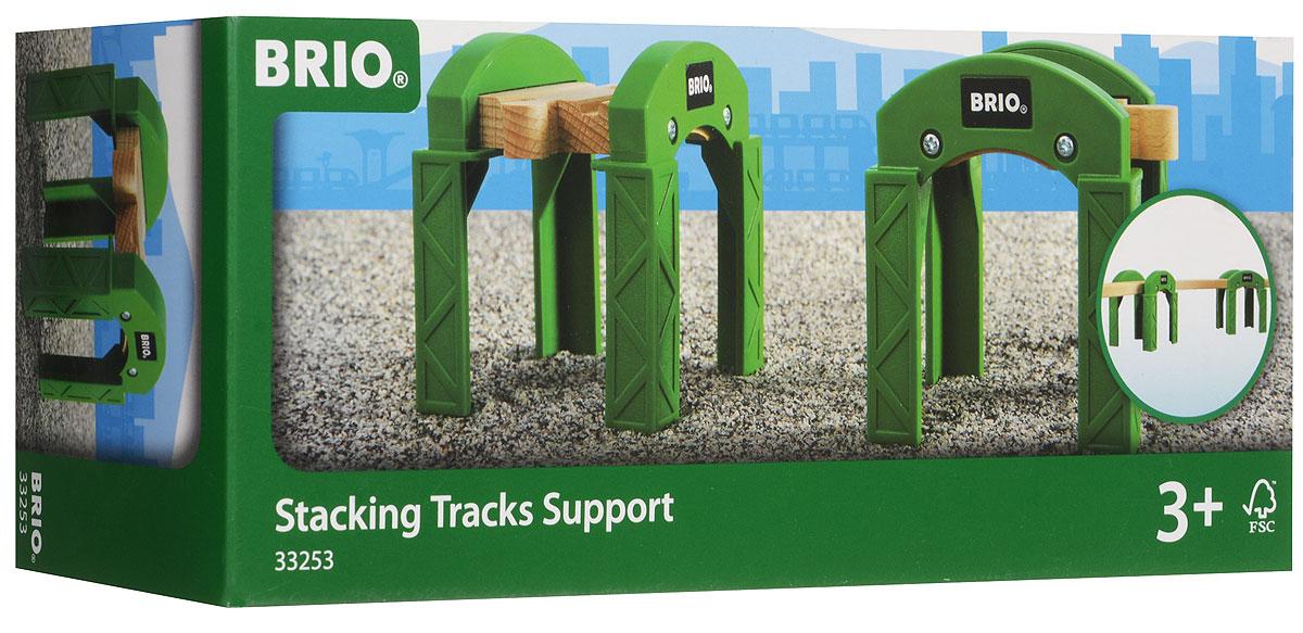 Brio Опорные арки 2 шт33253Вашему ребенку обязательно пригодятся в игре с железной дорогой опорные арки Brio. Две пластиковые арки с деревянным железнодорожным полотном могут соединятся с рельсами Brio, благодаря чему малыш сможет построить мост или проложить пути на втором уровне. Железные дороги позволяют ребенку не только получать удовольствие от игры, но и развивать пространственное воображение, мелкую моторику и координацию движений.