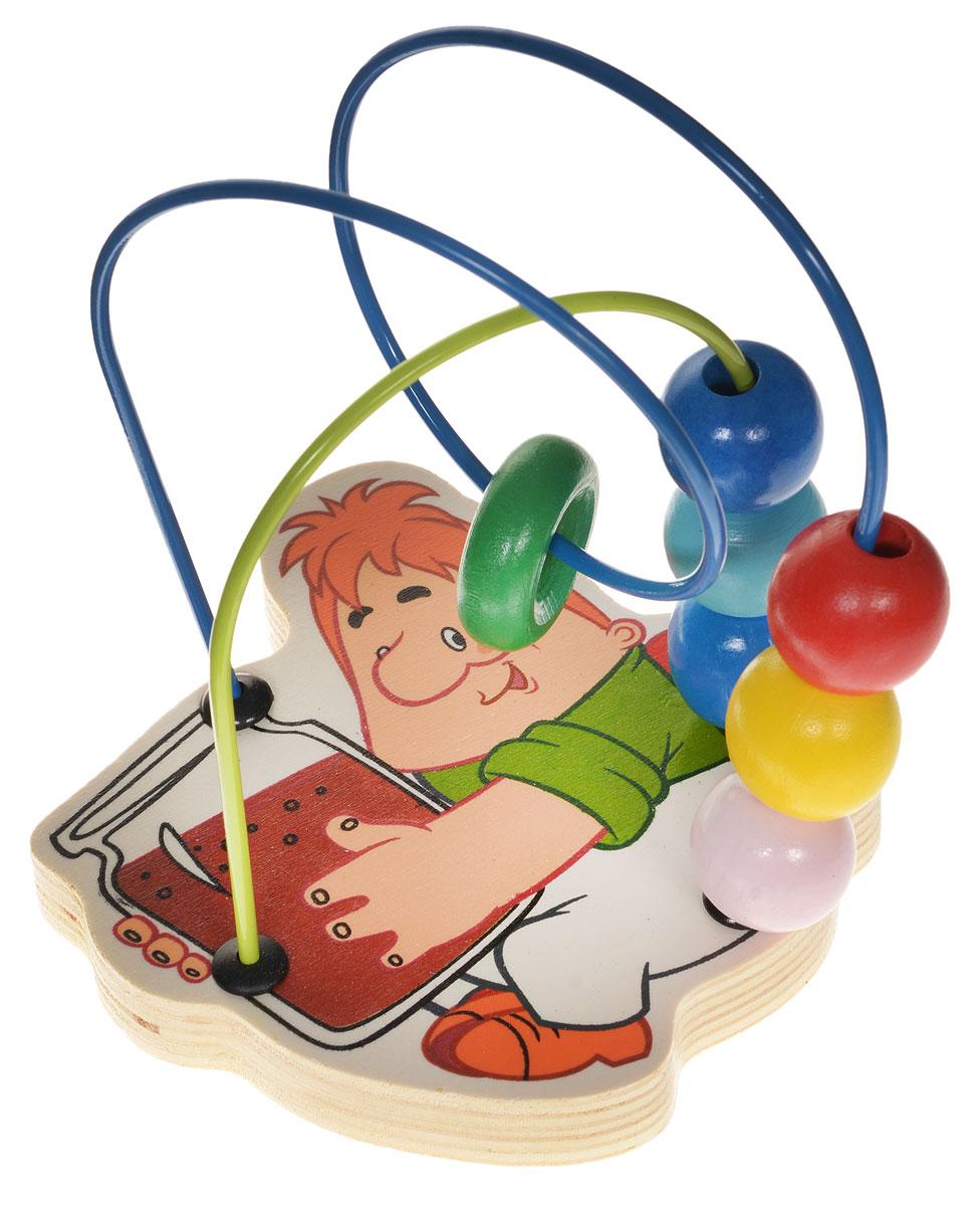 Союзмультфильм Лабиринт Карлсон1109174Лабиринт Союзмультфильм Карлсон - это замечательная игрушка для малышей! Игрушка выполнена из качественных материалов, абсолютно безопасна для вашего малыша. Краска устойчива к воздействию влаги и нетоксична, рисунок на изделии долгое время будет сохранять яркость. Натуральное дерево, из которого изготовлена игрушка, прошло специальную обработку, в результате чего на модели не осталось острых углов или шероховатых поверхностей, которые могут повредить кожу ребенка. К игрушке прикреплена изогнутая проволока, по которой свободно могут двигаться шарики, различные по цвету и форме. Лабиринт способствует развитию моторики, тренирует мышцы кисти, отрабатывает круговые движения, стимулирует визуальное восприятие, когнитивное мышление, развивает интеллектуальные способности.