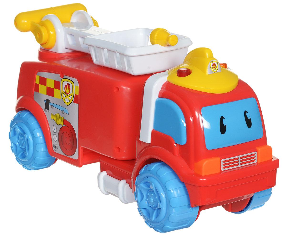 Navystar Машинка-игрушка Команда спасателей69033Машинка-игрушка Navystar Команда спасателей всегда готова прийти на помощь! Машинка содержит 40 различных мелодий, а также оснащена световыми эффектами. Малышу необходимо только нажать на кнопки, расположенные на крыше машинки. Также в набор входит мини-машинка. С машинкой малыш может играть в героя, спешащего на помощь пострадавшим от огня людям, тушить возгорания и учить других технике безопасности. Машинка-игрушка поможет малышу в развитии тактильных ощущений, мелкой моторики рук и координации движений. Порадуйте своего малыша такой интересной игрушкой! Рекомендуется докупить 2 батарейки типа АА (товар комплектуется демонстрационными).