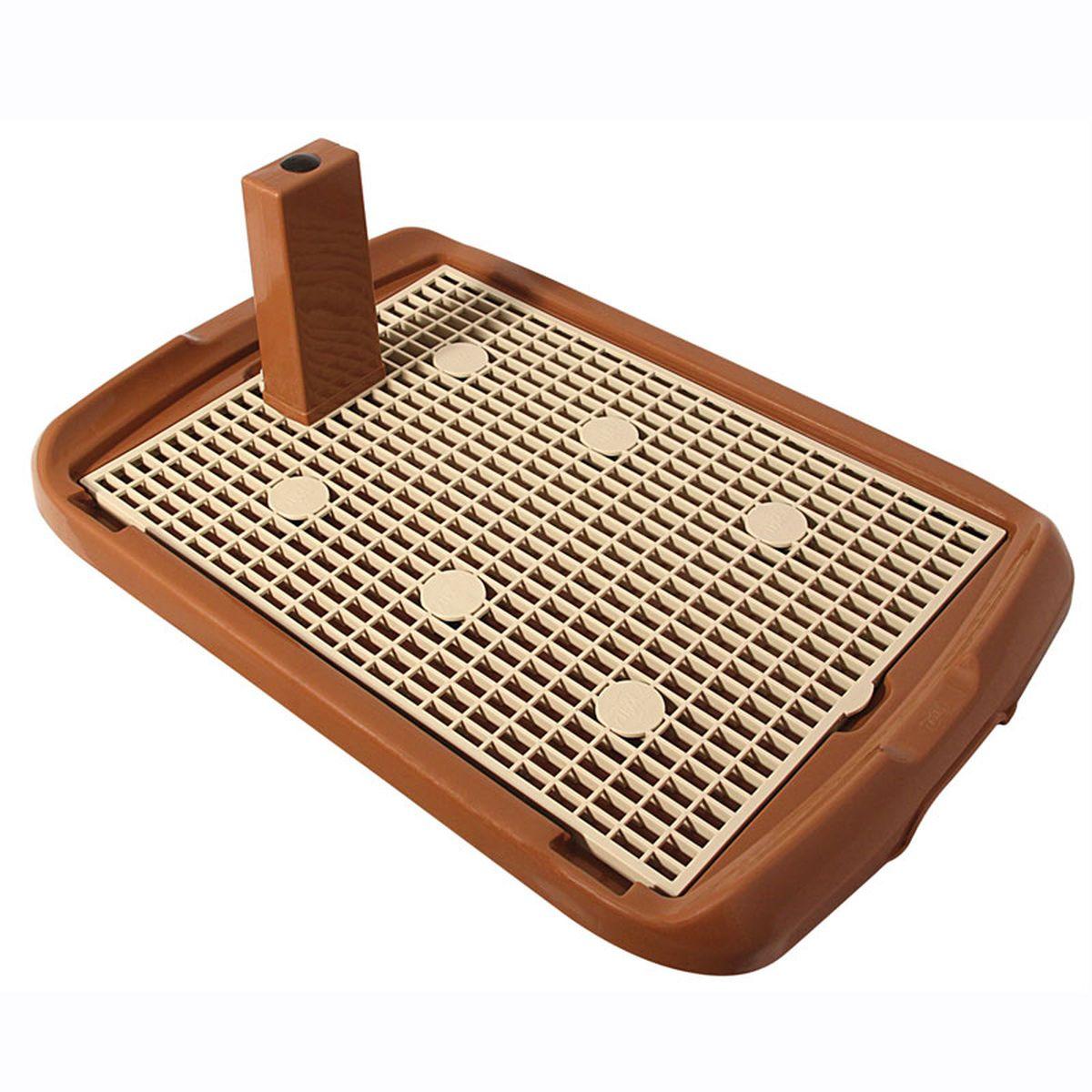 Туалет для собак Triol, со столбиком, 60 х 40 смМт-500Туалет предназначен для собак мелких и средних пород, а также для щенков. Столбик закрепляется на сетке (В ЛЮБОМ УДОБНОМ ВАШЕМУ ЖИВОТНОМУ МЕСТЕ), при необходимости его можно снять. Под сетку кладется впитывающая пеленка, поэтому лапы остаются сухими. Сетка мягкая, эластичная, приятная на ощупь, изготовлена из качественной резины.