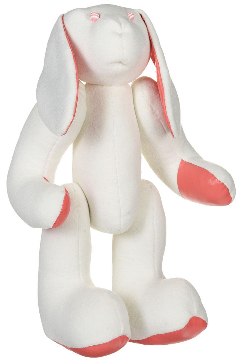 YusliQ Авторская мягкая игрушка Заяц 45 смkuri40Авторская игрушка ручной работы Заяц из серии Коллекционная искрится позитивом и отличным настроением. Игрушка-тильда, выполненная в виде зайца с шарнирными лапками и ярким платочком, станет необычным и прекрасным сюрпризом для друзей и знакомых! Очаровательный заяц, выполненный вручную из трикотажного материала, не оставит вас равнодушными и обязательно вызовет улыбку. Эта милая и симпатичная игрушка покорит сердца детей и взрослых, и послужит замечательным подарком! Заяц - не только замечательный сувенир ручной работы и великолепная идея для подарка, но и оригинальное интерьерное украшение. Такая игрушка поможет создать в доме атмосферу уюта, тепла, творчества и отличного настроения!