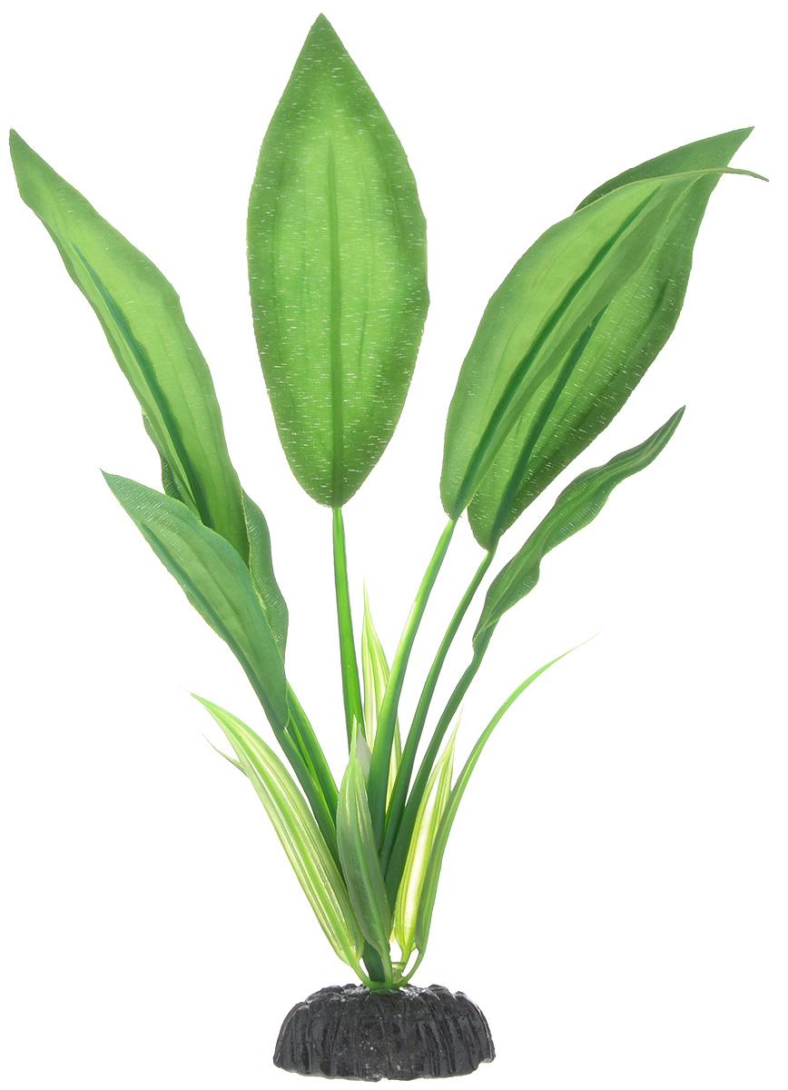 Растение для аквариума Barbus Эхинодорус Блехера, шелковое, высота 20 смPlant 050/20Растение для аквариума Barbus Эхинодорус Блехера, выполненное из качественного шелка, станет прекрасным украшением вашего аквариума. Шелковое растение идеально подходит для дизайна всех видов аквариумов. В воде происходит абсолютная имитация живых растений. Изделие не требует дополнительного ухода и просто в применении. Растение абсолютно безопасно, нейтрально к водному балансу, устойчиво к истиранию краски, подходит как для пресноводного, так и для морского аквариума. Растение для аквариума Barbus поможет вам смоделировать потрясающий пейзаж на дне вашего аквариума или террариума. Высота растения: 20 см.