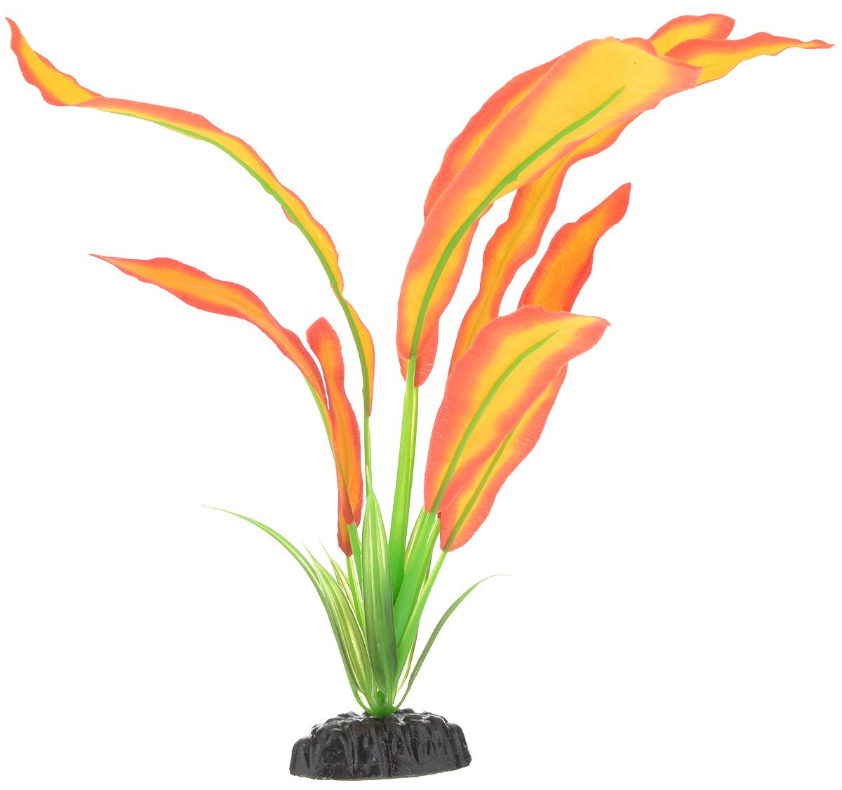 Растение для аквариума Barbus Эхинодорус Бартхи, шелковое, цвет: красный, желтый, высота 30 смPlant 047/30Растение для аквариума Barbus Эхинодорус Бартхи, выполненное из высококачественного нетоксичного пластика и шелка, станет прекрасным украшением вашего аквариума. Шелковое растение идеально подходит для дизайна всех видов аквариумов. В воде происходит абсолютная имитация живых растений. Изделие не требует дополнительного ухода и просто в применении. Растение абсолютно безопасно, нейтрально к водному балансу, устойчиво к истиранию краски, подходит как для пресноводного, так и для морского аквариума. Растение для аквариума Barbus поможет вам смоделировать потрясающий пейзаж на дне вашего аквариума или террариума. Высота растения: 30 см.
