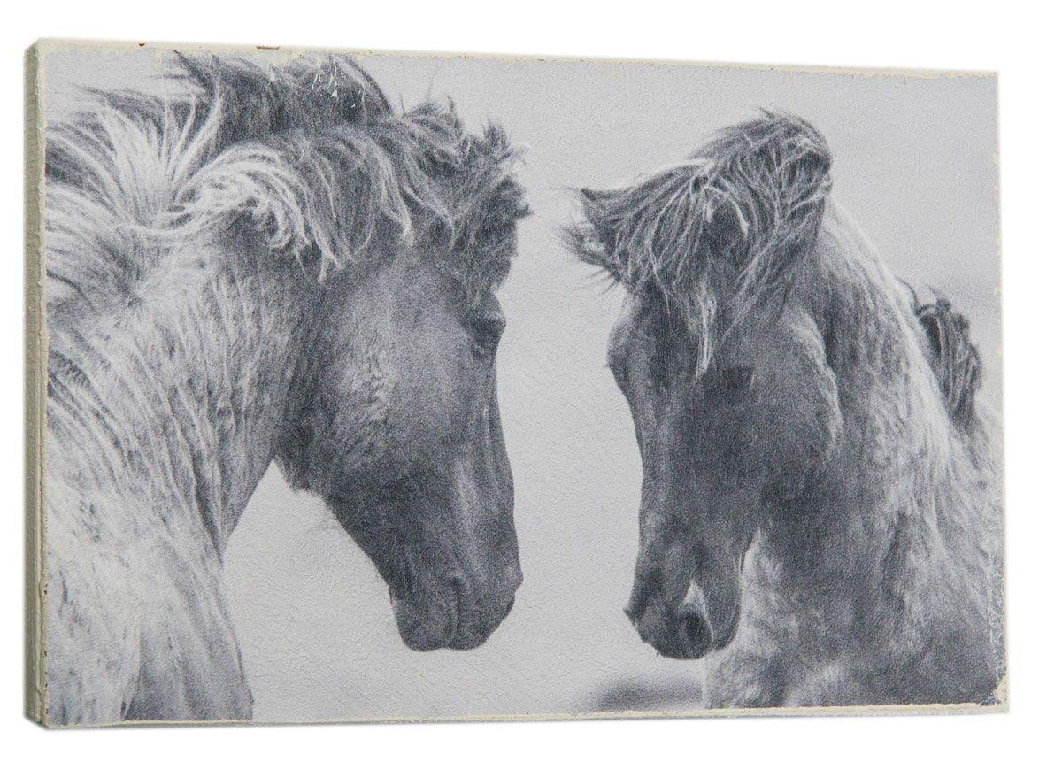 Картина Два коня, 14,5 х 22 см0110-15-22