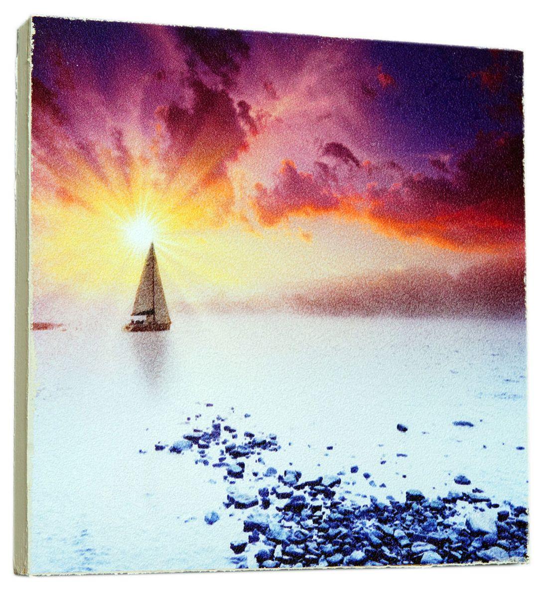 Картина Волшебная яхта на закате, 14,5 х 14,5 см0157-15-15