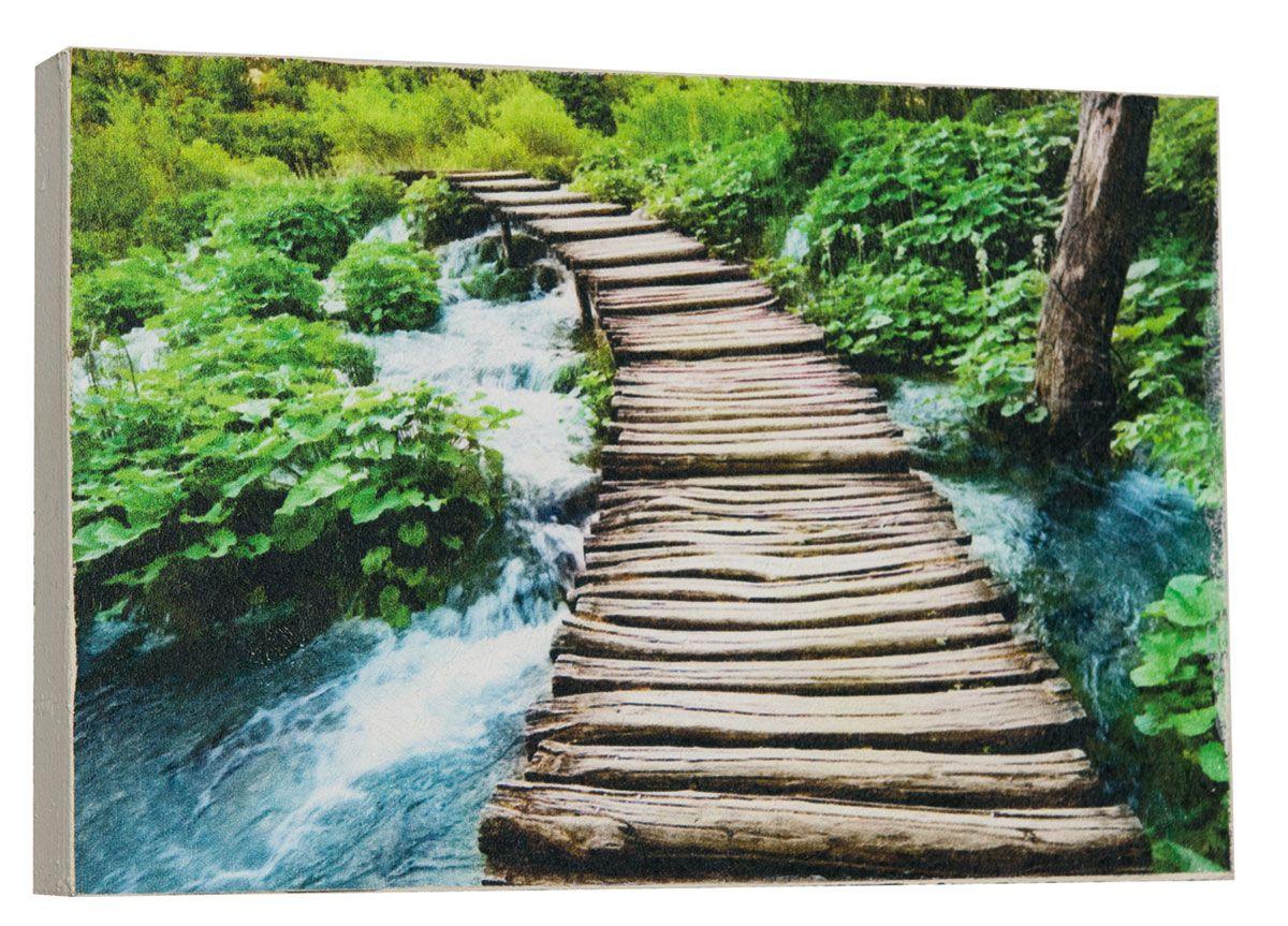 Картина Мост уходящий в даль, 14,5 х 22 см
