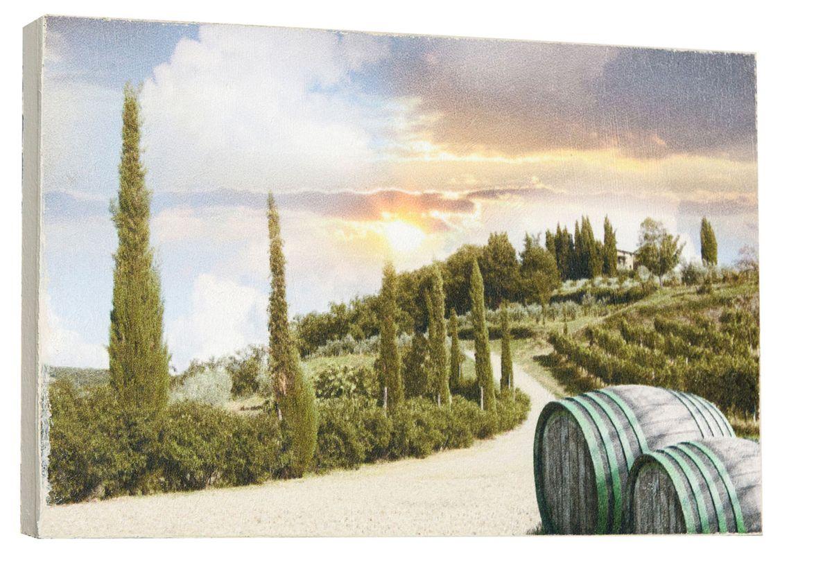 Картина Винные бочки, 14,5 х 22 см0249-15-22