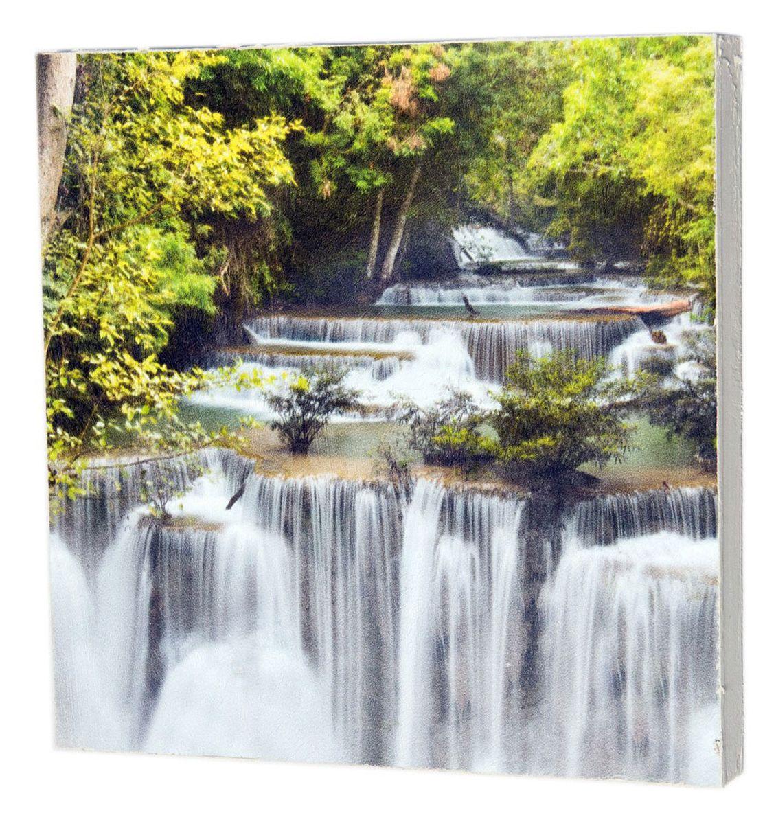 Картина Могущественный водопад, 22 х 22 см0264-22-22