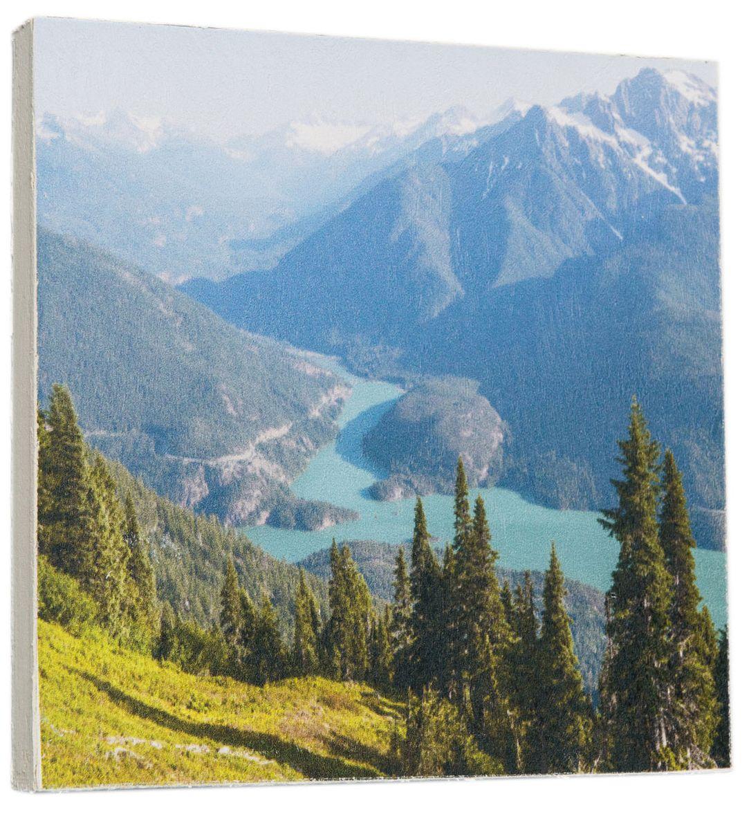 Картина Красивые горные вершины, 22 х 22 см