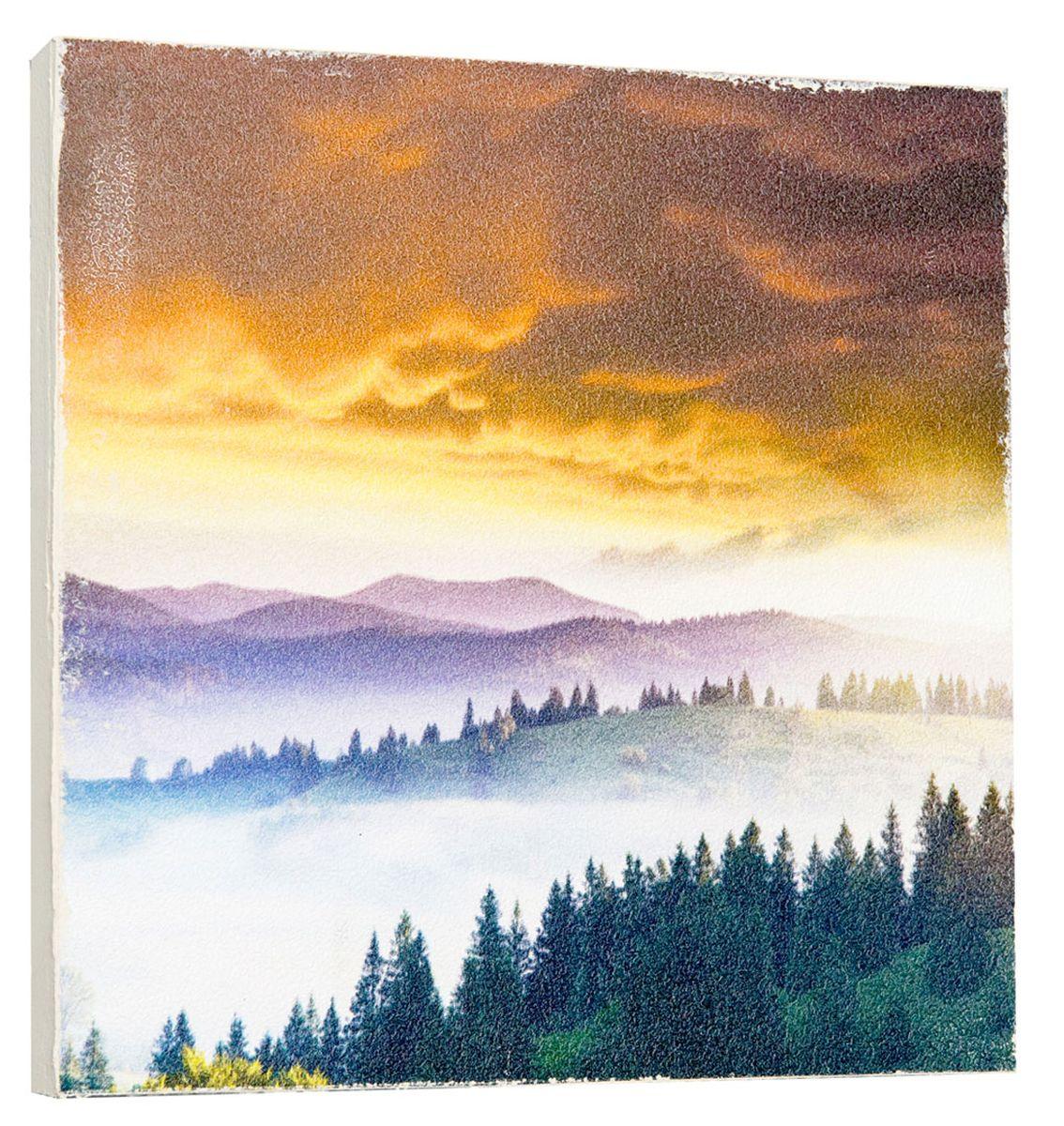 Картина Mister Poster Прекрасный пейзаж, 22 х 22 см0284-22-22Картина Mister Poster - это высококачественная репродукция на деревянной раме. Лицевая поверхность имитирует штукатурку или натуральный холст, края окрашены вручную специальным декоративным составом. Современные технологии, уникальное оборудование и оригинальные чернила, используемые при изготовлении, делают постер устойчивым к выцветанию, а также гарантируют стойкость к воздействию негативных внешних факторов. Интерьер дома и офиса, в котором находится человек, в значительной степени влияет на его настроение и работоспособность. Правильное оформление интерьера создает благоприятный психологический климат, улучшает настроение и мотивирует. Добавьте «красок» в ваш интерьер и, возможно, в вашу жизнь.
