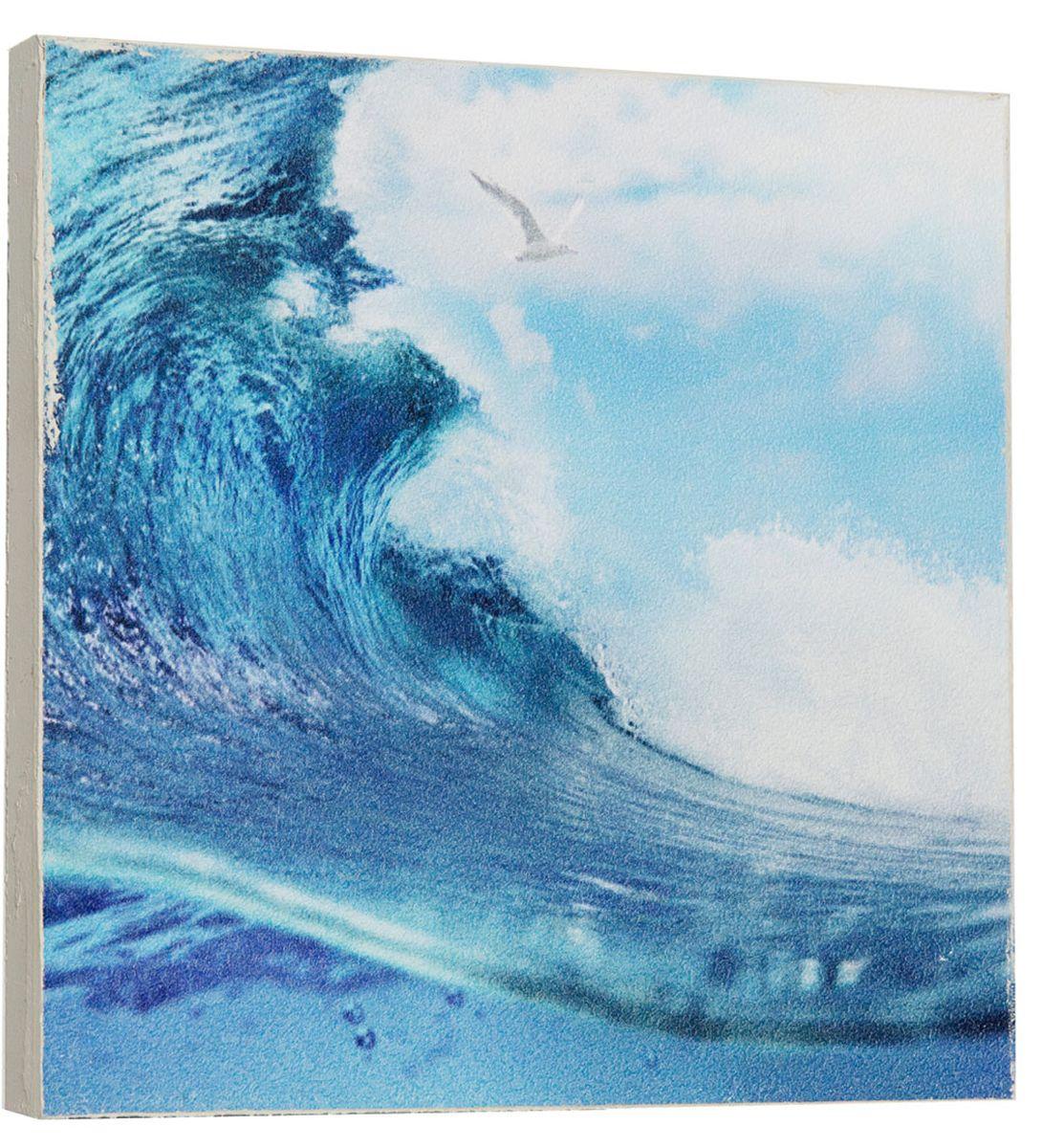 Картина Mister Poster Яркая морская волна, 22 х 22 см0298-22-22Картина Mister Poster - это высококачественная репродукция на деревянной раме. Лицевая поверхность имитирует штукатурку или натуральный холст, края окрашены вручную специальным декоративным составом. Современные технологии, уникальное оборудование и оригинальные чернила, используемые при изготовлении, делают постер устойчивым к выцветанию, а также гарантируют стойкость к воздействию негативных внешних факторов. Интерьер дома и офиса, в котором находится человек, в значительной степени влияет на его настроение и работоспособность. Правильное оформление интерьера создает благоприятный психологический климат, улучшает настроение и мотивирует. Добавьте «красок» в ваш интерьер и, возможно, в вашу жизнь.