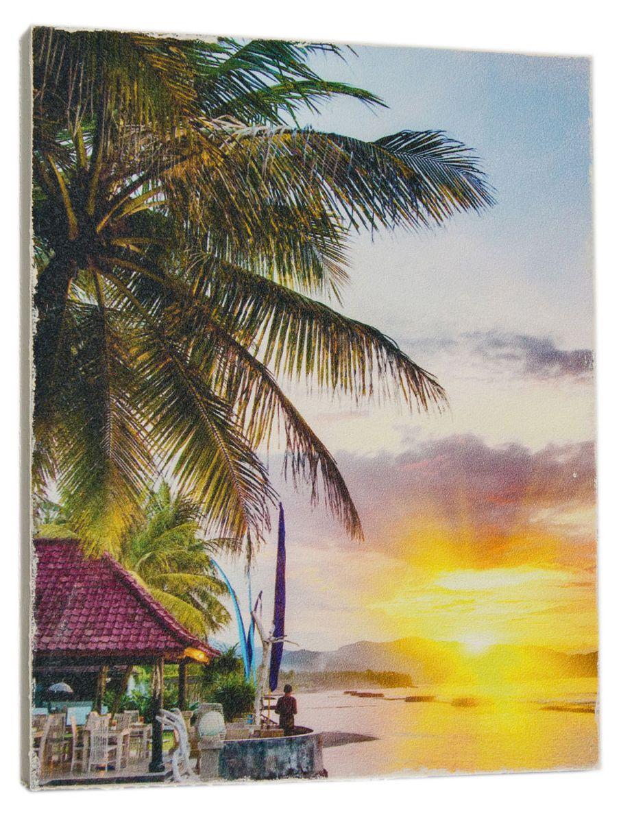 Картина Mister Poster Бунгало на берегу океана, 24 х 32 см0312-24-32Картина Mister Poster - это высококачественная репродукция на деревянной раме. Лицевая поверхность имитирует штукатурку или натуральный холст, края окрашены вручную специальным декоративным составом. Современные технологии, уникальное оборудование и оригинальные чернила, используемые при изготовлении, делают постер устойчивым к выцветанию, а также гарантируют стойкость к воздействию негативных внешних факторов. Интерьер дома и офиса, в котором находится человек, в значительной степени влияет на его настроение и работоспособность. Правильное оформление интерьера создает благоприятный психологический климат, улучшает настроение и мотивирует. Добавьте «красок» в ваш интерьер и, возможно, в вашу жизнь.