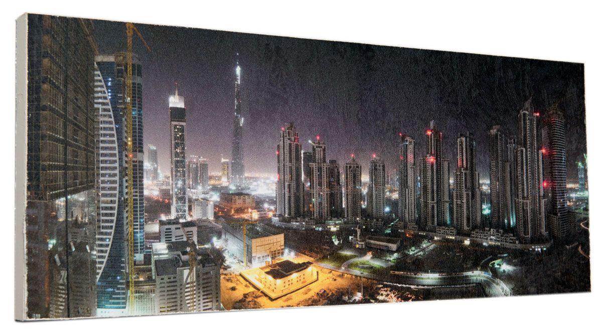 Картина Город в огнях , 24 х 60 см0323-24-60