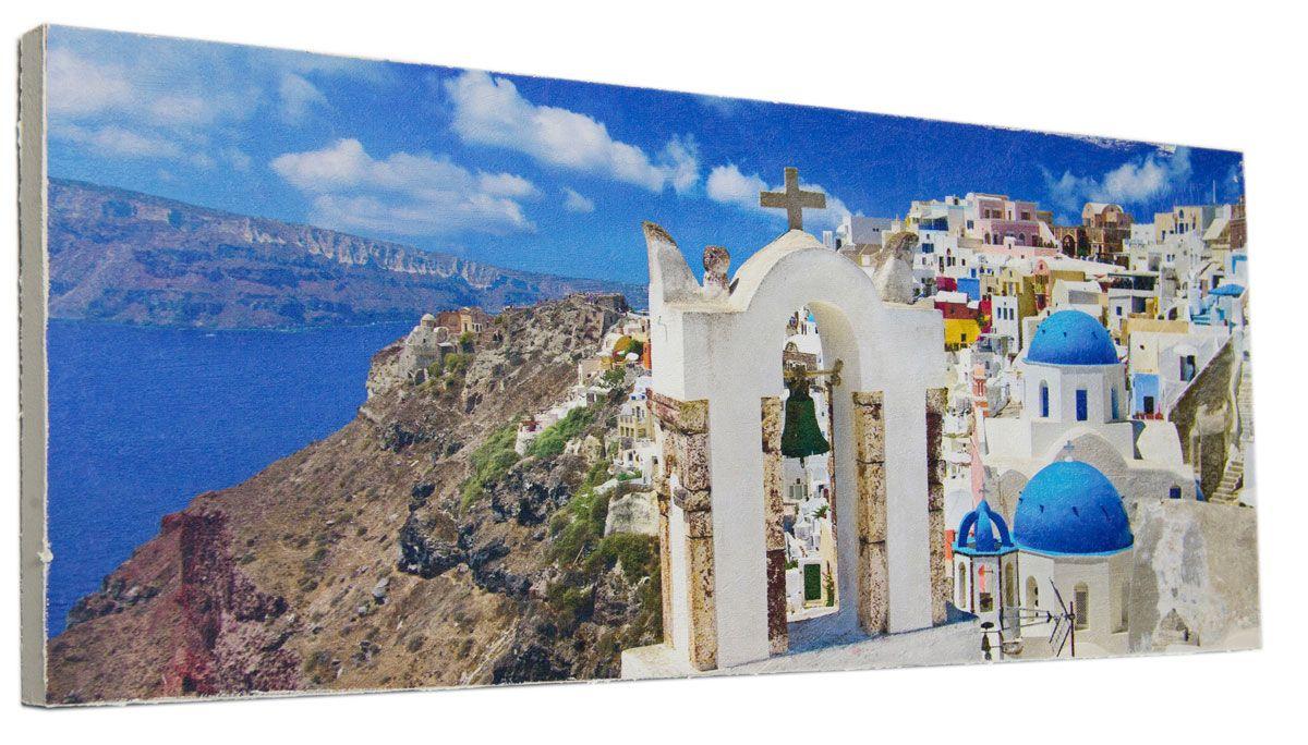 Картина Ярко-синий остров Крит, 24 х 60 см0340-24-60