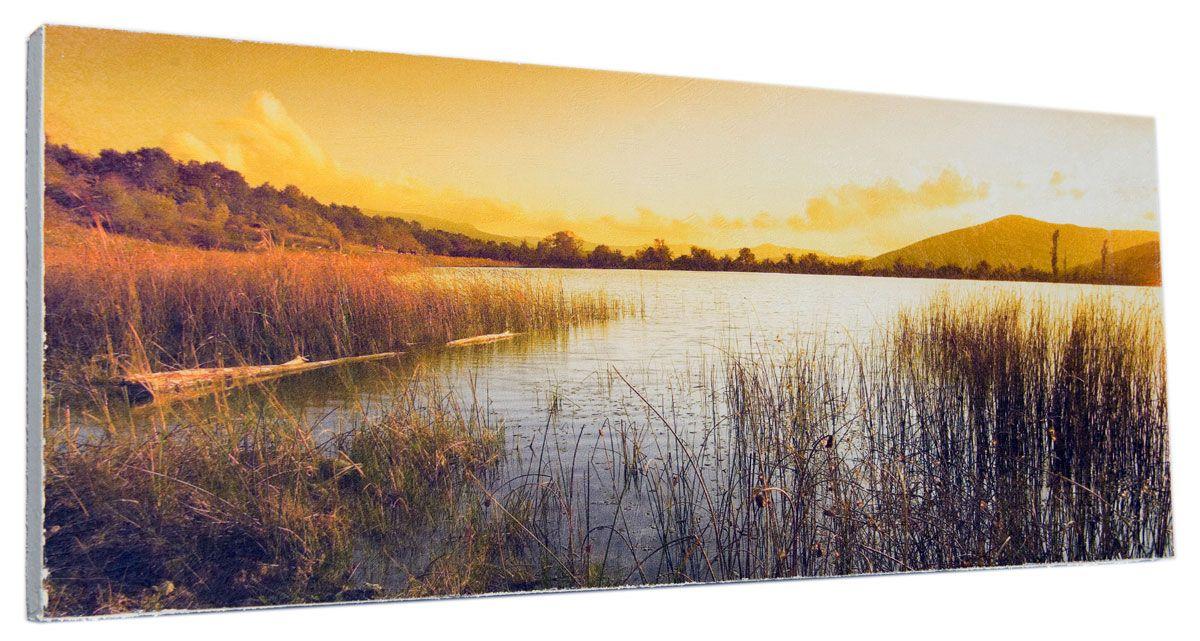 Картина Вечерний берег реки, 24 х 60 см0341-24-60