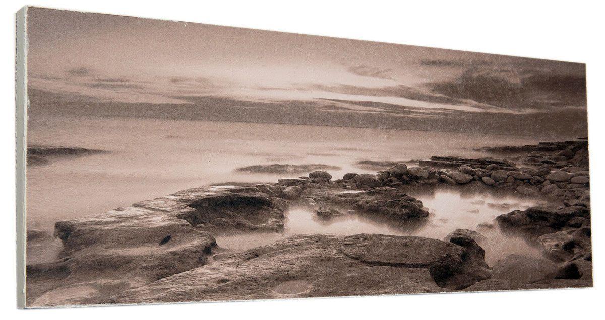 Картина Каменистый мрачный берег, 24 х 60 см0343-24-60