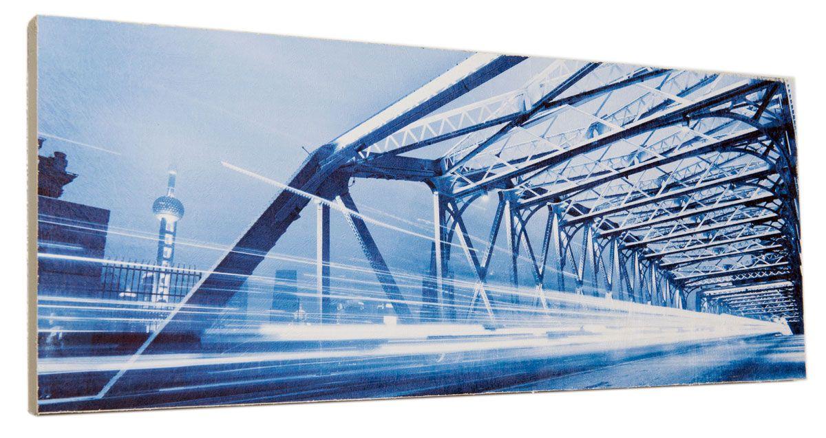 Картина Движение через мост, 24 х 60 см0345-24-60