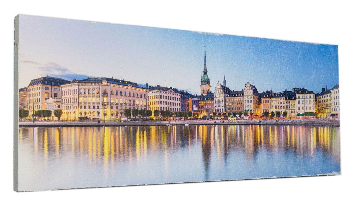 Картина Вечерняя Прага, 24 х 60 см0348-24-60