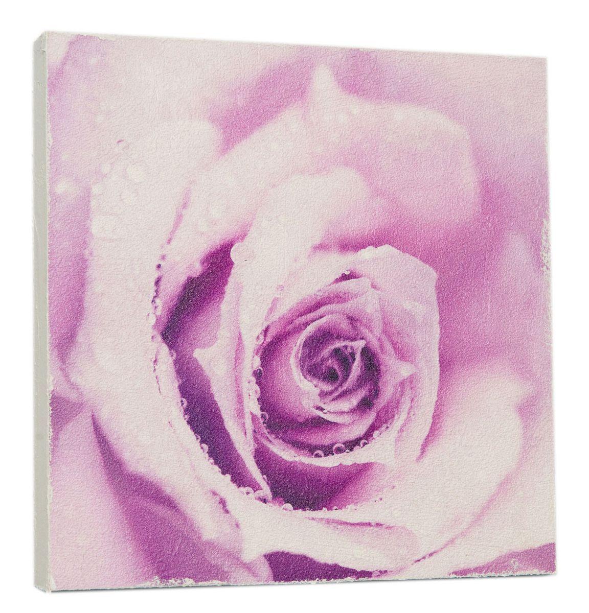 Картина Сиреневая роза, 14,5 х 14,5 см